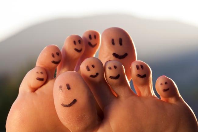 Happy foot happy toes