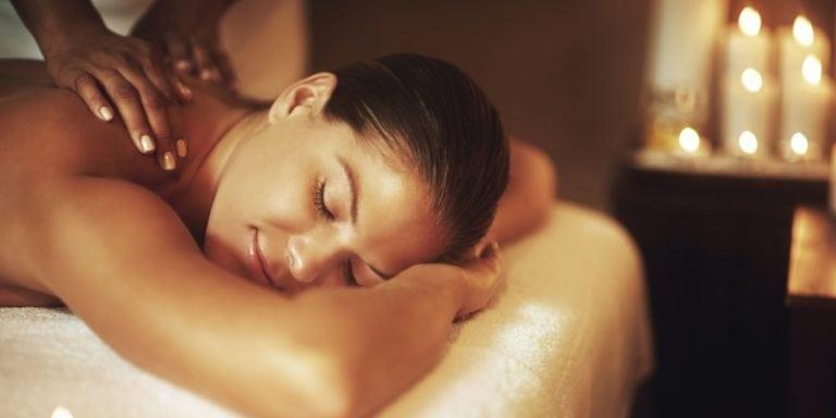 A Lady having a Swedish massage