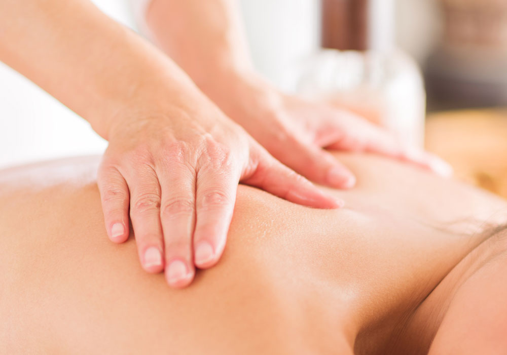A man having a massage therapy in Winston-Salem.